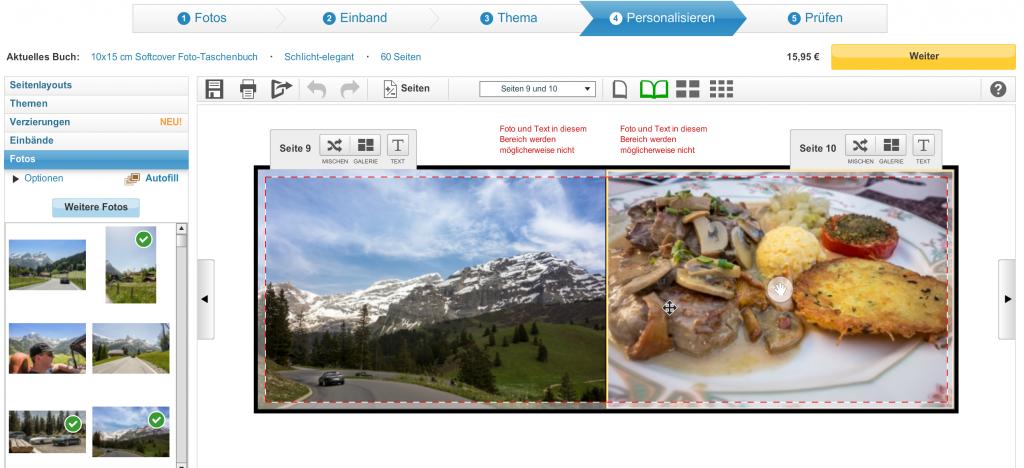 Fotobuch für die Tasche von Snapfish - Software
